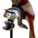 Roman helmet long plume